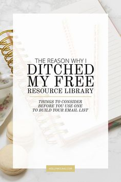 I ditched my free resource library when I realized I wasn't selling a damn thing. When I started my blog with legit opt-ins, I started out with a free resource library. And, it worked like mad crazy! My email list exploded. But soon, I realized it wasn't working for my business. It was hurting it. Check out my blog and my opt-ins at hollymccaig.com to see what I offer!