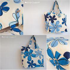 Blue flower multi bag - Il Gufo Creativo
