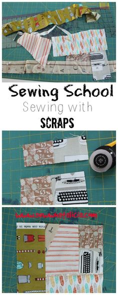 Sewing School - Sewing with Scraps - Learn to use those scraps that you have been accumulating in this month's assignment we are making scrappy coasters. www.sewwhatalicia.com