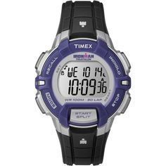 Timex Ironman 30 Lap Rugged Mid Size Watch - Black/Purple *** You can find out…