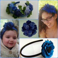 Jm Handmade blue flower headbands