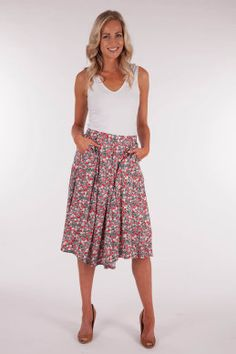 Discount Finishline View Sale Online Cupro Skirt - Dream Tree-red Skirt by VIDA VIDA YYUF2ydOta