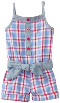 Carters Baby-Girls Infant Plaid Romper With Denim Belt Caitlyn and Brooky would be so cute if they had matching ones!Love the plaid with solid trim.Oh Kennedy needs this! Toddler Dress, Toddler Outfits, Toddler Girl, Kids Outfits, Toddler Rompers, Baby Girl Dresses, Baby Dress, Little Girl Fashion, Kids Fashion