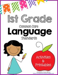 This pack is filled with anchor charts, activities, games, printables, and extension activities to help your students learn and practice the 1st grade Common Core Language standards!