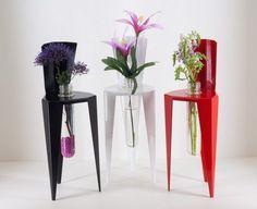 Ding Test Tube Vase iron decor flower green gift by iEcofun