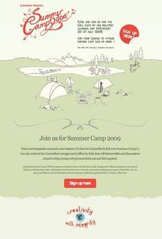 Unique Web Design, Summer Camp @annamizer #WebDesign #Design (http://www.pinterest.com/aldenchong/)