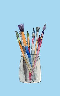 - Paint - pigment liner pen & watercolour #elementedenartsearch