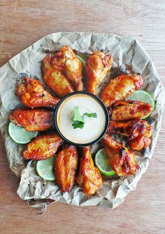 Sweet Chipotle Glazed Wings ... perfect for weekend playoffs!