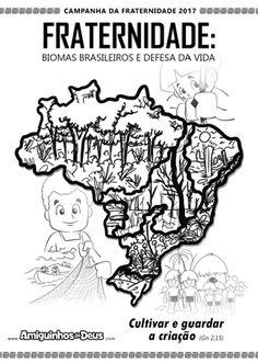 Garotada Missionária - Infância e Adolescência Missionária: Cartaz da Campanha da Fraternidade 2017 para colorir
