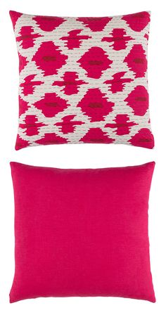 Like the maraschino cherry to your rum punch, our Bali Outdoor Toss Pillow is a colorful garnish to lazy days spent on the pool deck or patio. The pillow's allover ikat print is traversed by running st...  Find the Bali Outdoor Toss Pillow - Magenta, as seen in the Throw Pillows Collection at http://dotandbo.com/category/decor-and-pillows/pillows/throw-pillows?utm_source=pinterest&utm_medium=organic&db_sku=119073