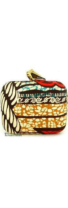 ~Kotur SS 2013 African batik print clutch | The House of Beccaria