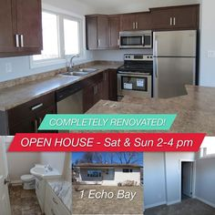 This home is beautiful! Completely renovated, and a new roof to come in the next week. Call to book a viewing! Windsor Park, Open House, Kitchen Cabinets, Book, Instagram Posts, Beautiful, Cabinets, Book Illustrations, Books