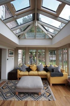 49 Popular Sun Room Design Ideas For Relaxing Room. One of the most common and beautiful home additions that you can add to your home is a sun room. They have many names, such as patio rooms and conse. House Extension Plans, House Extension Design, Home Renovation, Home Remodeling, Orangerie Extension, Garden Room Extensions, Casa Loft, Sunroom Decorating, Relaxation Room