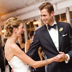 The groom sported a Samuelsohn tuxedo from Beecroft & Bull. Photo: Jen Fariello.