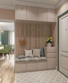 Foyer Design, Home Room Design, Interior Design Living Room, Living Room Designs, Living Room Decor, Kitchen Interior, Apartment Interior, Apartment Design, Home Entrance Decor
