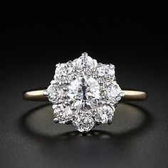 Victorian Diamond Cluster Engagement Ring - 10-1-3806 - Lang Antiques