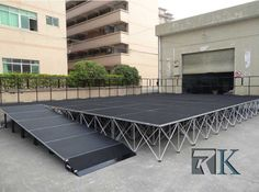 RK portable tage handrails keep you safe.  If you are interested in our products, you can contact the sales manager Amabda's E-mail: amanda@raykglobal.com, or visit our website 【www.beyondstage.com】 #portablestage #mobilestage #stageforsale #stagesupplier