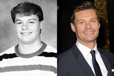 Ryan Seacrest— Then and Now  Now that's interesting. Ryan Seacrest looks basically the same as he did in 1990, when he was a freshman at Peachtree Junior High in Atlanta.