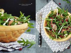 * N i c e s t T h i n g s *: Pastry Salad Bowls Food Design, Good Food, Yummy Food, Bread Bowls, Fabulous Foods, Diy Food, Healthy Dinner Recipes, Salad Recipes, Food Photography