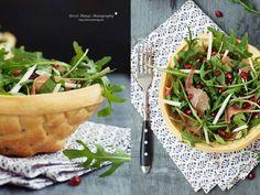 DIY Rezept: Körbchen aus Teig backen // DIY recipe: how to bake an edible basket for salad and more via DaWanda.com
