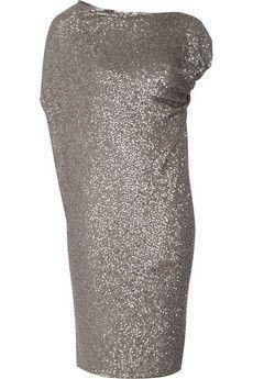 Donna Karan Sequined cashmere and silk-blend dress NET-A-PORTER.COM - StyleSays