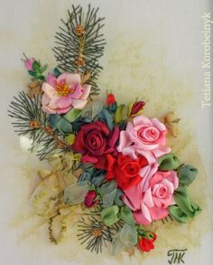 picture  Silk ribbon embroidery by SilkRibbonembroidery on Etsy, €80.00