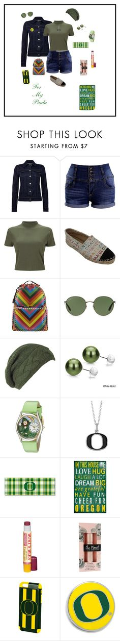 """For Paula"" by michelechambers ❤ liked on Polyvore featuring Replay, Miss Selfridge, Chanel, Valentino, Ray-Ban, Laundromat, DaVonna, Whimsical Watches, Fiora and Burt's Bees"