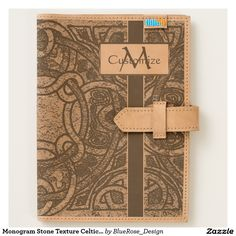Shop Monogram Stone Texture Celtic Knot Leather Journal created by BlueRose_Design. Moleskine Notebook, Journal Notebook, Leather Travel Journal, Stone Texture, Celtic Knot, Leather Accessories, Worlds Of Fun, Cow Leather, Ipad Mini