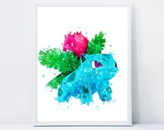 Watercolor Instant Download Nursery Wall Art by QualityPrintCenter Nursery Wall Art, Unique Jewelry, Handmade Gifts, Watercolor, Frame, Vintage, Kid Craft Gifts, Pen And Wash, Picture Frame