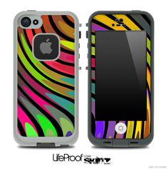 Abstract Color Swirled Skin for the iPhone 5 or 4/4s LifeProof Case
