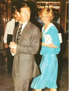 July 20, 1983: Prince Charles & Princess arriving at London's Dominion Theatre to attend the Duran Duran Concert in aid of the Prince's Trust.