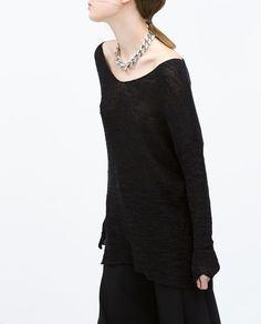 LONG SWEATER-Knitwear-WOMAN | ZARA Canada