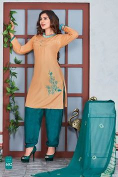 Cotton Salwar Kameez, Kurti, Kids Kurta, Patiyala Dress, New Catalogue, Indian Textiles, Light Orange, Festival Wear, Daily Wear