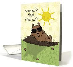 Happy groundhog day greeting cards wishing cards ecards coloring happy groundhog day shadow m4hsunfo