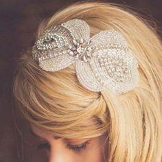Barrette perles vintage