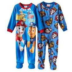 Paw Patrol 2-pk. Fleece Footed Pajamas - Toddler Boy