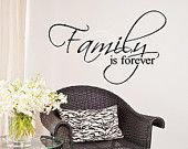 Family Is Forver Vinyl Lettering Wall Sayings Word Art Home Decor