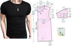 Camiseta basica de hombre con patrones