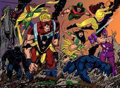 Los Vengadores de los 70 por John Byrne.