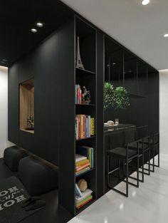 Black & White Apartment In Lithuania Interjeras Kaune by IDwhite