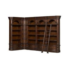 Van Buren Museum Library Wall ($3,300) ❤ liked on Polyvore featuring home, furniture, storage & shelves and drawer furniture