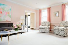 CLIENT AIN'T AFRAID OF COLOR REVEAL: THE LIVING ROOM — Anna Matthews Interiors