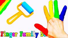 Play Doh Finger Family LEARN COLORS for Kids Toddlers Nursery Rhymes Son...