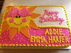 You are my sunshine birthday cake