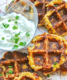 Spaghetti Squash and Quinoa Waffle Fritters and other interesting recipes, but skip the bacon!