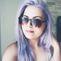 Purple hair - don't care 💜#VSCOcam #purple #hair #lilac #pastelhair #summer #sunny #directions #hairstyle #color | instagram: gilda23 Pastel Hair, Purple Hair, Vsco Grid, Don't Care, Cat Eye Sunglasses, Sunnies, Lilac, Hairstyle, Instagram Posts
