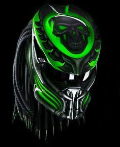 Predator Helmet This skull motif is the best-selling motif Motorcycle Events, Custom Motorcycle Helmets, Custom Helmets, Custom Bikes, Women Motorcycle, Biker Helmets, Half Helmets, Racing Helmets, Motorcycle Gear