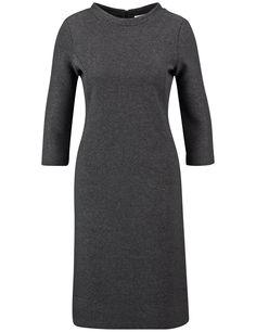 Kleid mit feiner Struktur,Stahl Melange