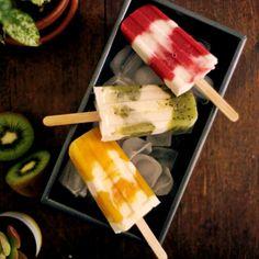 Fruity Coconut Yoghurt Ice Creams
