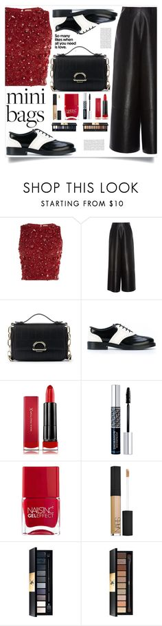 """""""So Cute: Mini Bags"""" by sl1234 ❤ liked on Polyvore featuring Lace & Beads, Lanvin, Sole Society, Tod's, Max Factor, Christian Dior, Nails Inc., NARS Cosmetics, John Lewis and Yves Saint Laurent"""